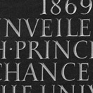 Photograph of commemorative plaque, Fitzwilliam College, Cambridge. Welsh slate.