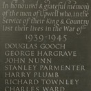 Photograph of war memorial, Upwell, Cambridgeshire. Welsh slate.